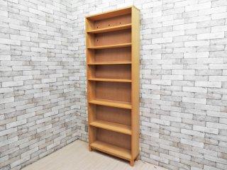 無印良品 MUJI タモ材 組み合わせて使える木製収納 高さ212cm 本棚 ブックシェルフ A ●