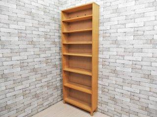 無印良品 MUJI タモ材 組み合わせて使える木製収納 高さ212cm 本棚 ブックシェルフ B ●