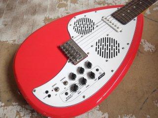 ヴォックス VOX アパッチ APACHE-1 アンプ内蔵エレキギター トラベルギター ティアドロップ オレンジ ♪