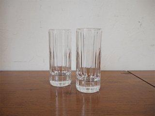 バカラ Baccarat ハーモニー Harmonie タンブラー 12cm グラス 2客セット ビア タンブラー ボトムウェイト ★