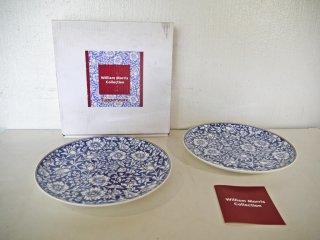 タッパーウェア Tupperware ウィリアムモリス コレクション WilliamMorris マロウ 27cm プレート 2枚セット 未使用品 ボーンチャイナ A ◇