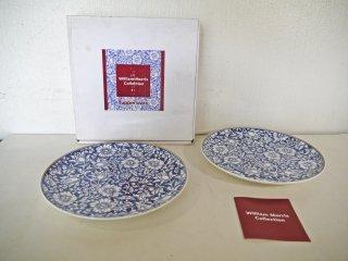 タッパーウェア Tupperware ウィリアムモリス コレクション WilliamMorris マロウ 27cm プレート 2枚セット 未使用品 ボーンチャイナ B ◇