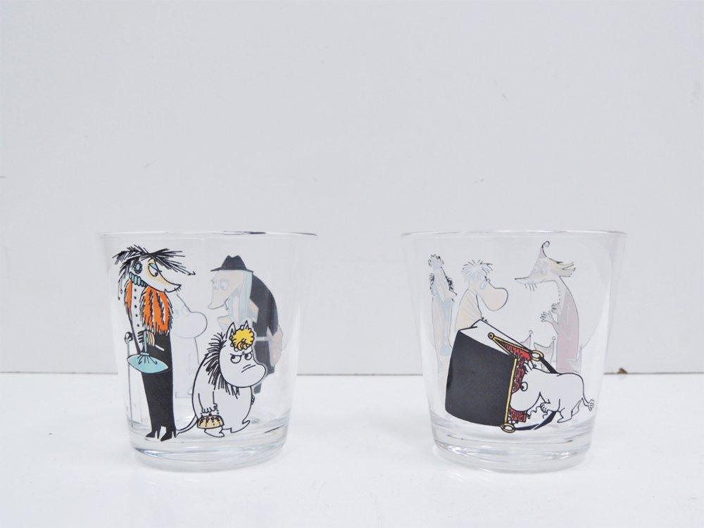 イッタラ iittala ムーミン タンブラー グラス イエローテール & ムーミンと火星人 2客セット 箱付 廃番 希少 イタリア製 ●