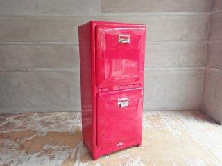 ダルトン DULTON ダブルデッカー DOUBLE DECKER トラッシュカン ダストボックス レッド ゴミ箱 分別 2段 アメリカンスタイル ♪