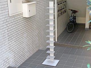 シンテシ SINTESI サピエンスブックタワー ブルーノ・レイナルディ タワー型シェルフ イタリア 本棚 シルバー ■