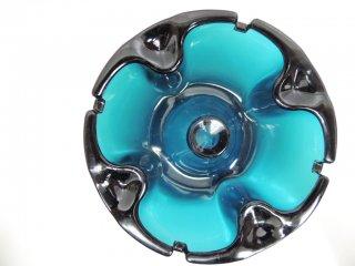 北欧ビンテージ danish vintage ガラス アッシュトレイ 灰皿 ターコイズ ●