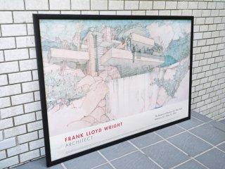 フランクロイドライト FRANK LLOYD WRIGHT アートポスター 落水荘 falling water 額装 ■