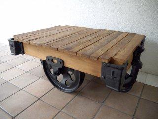 アクメファニチャー ACME Furniture ギルド ドーリー GUILD DOLLY テーブル S チーク古材×鋳鉄 インダストリアル ローテーブル AVボード 定価¥147,400- ◇