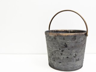 吉本有希 バケツ型 フラワーベース 陶器×真鍮 ブラス 現代作家 ●