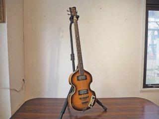 フレッシャー Fresher FK-301BS バイオリンベース エレキベース 70年代ビンテージ Fender風初期ロゴ 現状品 ★