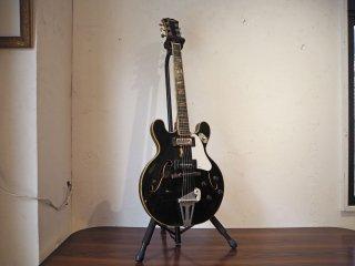 グレコ Greco EG-200 セミアコ ホロウボディ フルアコ構造 エレキギター ジャパンビンテージ 60年代 初期ロゴ ビザール ブラック 現状品 ★