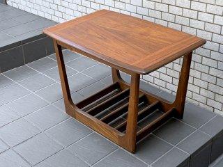 USビンテージ 木製 コーヒーテーブル サイドテーブル ミッドセンチュリー 米国 ■
