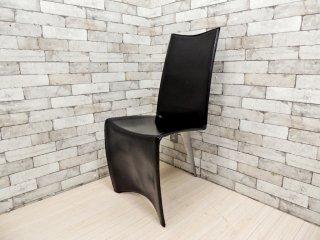 ドリアデ Driade アーチャーチェア ED Archer Chair レザーチェア ブラック フィリップスタルク 本革 イタリア モダン A ●