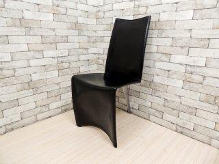 ドリアデ Driade アーチャーチェア ED Archer Chair レザーチェア ブラック フィリップスタルク 本革 イタリア モダン B ●