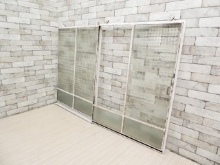 ビンテージ シャビーホワイトペイント 吊り下げ ドア 88×6×117� 建具 扉 戸 現状品 ●