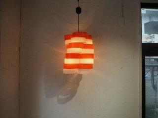 スペースエイジ デザイン アクリルリング ツイスト ランプ ホワイト×オレンジ Twist Lamp ★