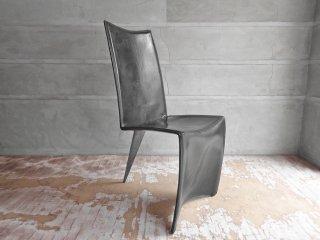 ドリアデ Driade アーチャーチェア ED Archer Chair レザーチェア ブラック フィリップスタルク 本革 イタリア モダン A ♪