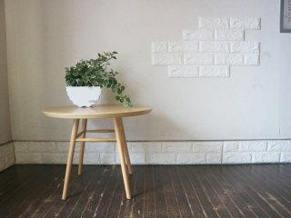 イデー IDEE アーオ テーブル AO TABLE ナチュラル アッシュ材 円形 ローテーブル 定価¥46,200- 岡嶌要 ◎