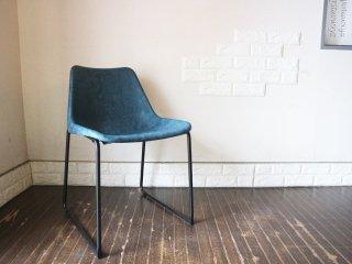 ノットアンティークス Knot antiques ログチェア LOG Chair ダイニングチェア ビンテージブルー プロテインレザー ミッドセンチュリー ◎