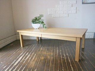 無印良品 MUJI 木製ローテーブル コーヒーテーブル 抽斗付 W120cm タモ材 ナチュラル シンプルデザイン ◎