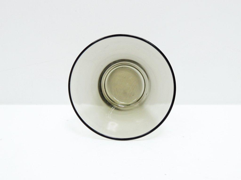 ヌータヤルヴィ Nuutajarvi #2744 グラス スモーク カイ・フランク KAJ FRANCK 手吹き ビンテージ D ●