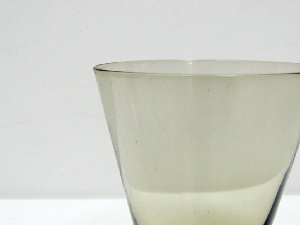ヌータヤルヴィ Nuutajarvi #2744 グラス スモーク カイ・フランク KAJ FRANCK 手吹き ビンテージ C ●