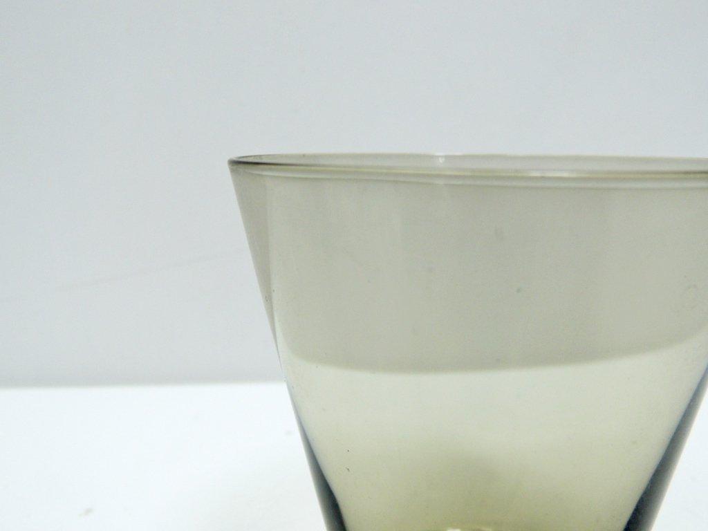 ヌータヤルヴィ Nuutajarvi #2744 グラス スモーク カイ・フランク KAJ FRANCK 手吹き ビンテージ A ●