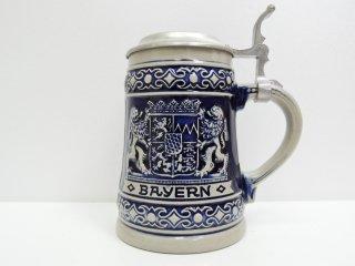 ドイツ ゲルツ GERZIT ビンテージ ビアマグ 蓋付き マグカップ バイエルン ●