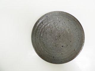 花岡隆 粉引石目 5寸皿 平皿 現代作家 ●