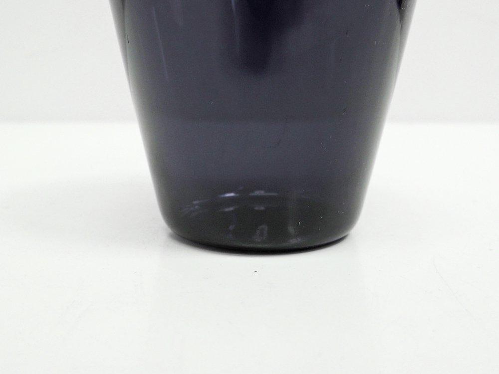 ヌータヤルヴィ Nuutajarvi スモール グラス ブルーパープル カイ・フランク KAJ FRANCK ビンテージ H6.5cm ●
