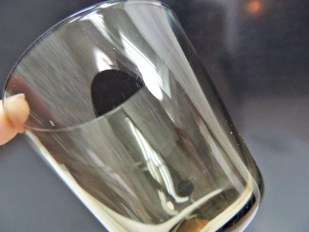 ヌータヤルヴィ Nuutajarvi スモール グラス スモーク カイ・フランク KAJ FRANCK ビンテージ H6.2cm ●