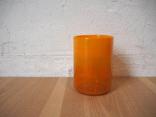 ボダ BODA オレンジ フラワーベース flower vase エリック・ホグラン Erick Hoglund 刻印入り 北欧 スウェーデン ヴィンテージ ★