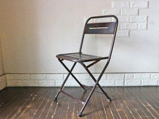 ジャーナルスタンダードファニチャー journal standard Furniture ギデル GUIDEL フォールデイングチェア 折り畳み インダストリアル 廃番 ◎