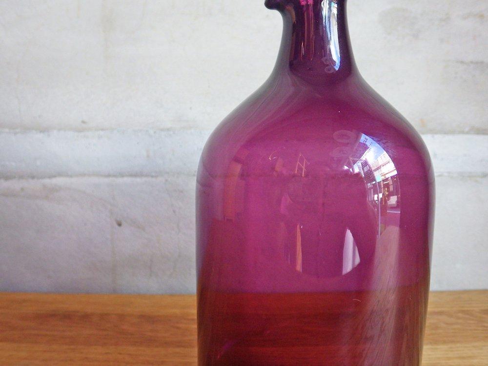 イッタラ iittala バードボトル Bird Bottle i-400 ティモ・サルパネヴァ TimoSarpaneva 1957-1966年 パープル フル刻印 ♪