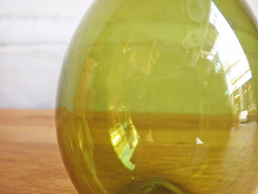 イッタラ iittala バードボトル Bird Bottle i-401 ティモ・サルパネヴァ TimoSarpaneva 1957-1968年 グリーン 三角シール 刻印あり ♪