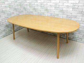 無印良品 MUJI リアルファニチャー オーク材 ダイニングテーブル オーバル1 オーバル型 W220cm 定価¥115,500-  ●