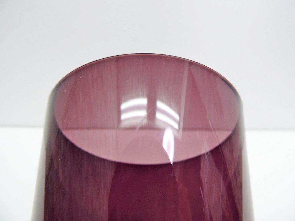ヌータヤルヴィ Nuutajarvi #2744 グラス Lサイズ パープル カイ・フランク KAJ FRANCK 手吹き ビンテージ 北欧食器 A ●