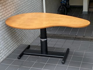 オスロ OSLO オリジナルコレクション ビーンズ型 リフティングテーブル 昇降式 ■
