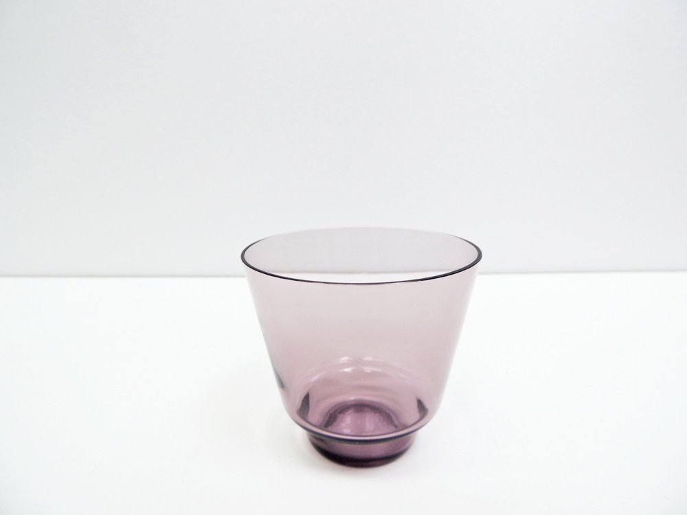 イッタラ iittala ガラス タンブラー i-106 パープル ティモ・サルパネヴァ Timo Sarpaneva ビンテージ 北欧食器 B ●