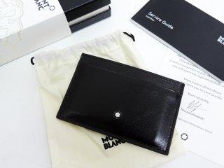 モンブラン MONTBLANC 本革 パスケース カード入れ イタリア製 箱付き 未使用品 ●