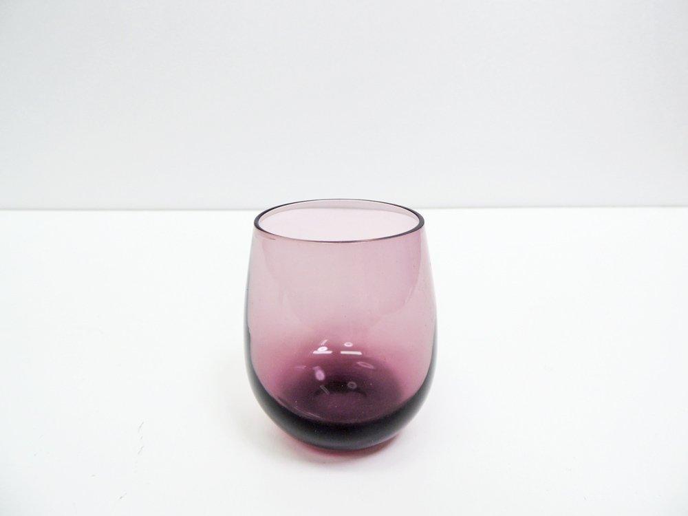 北欧ビンテージ ガラス スモール タンブラー パープル A ●