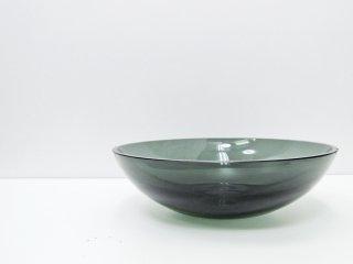 ヌータヤルヴィ Nuutajarvi #5377 ガラス ボウル グレー カイ・フランク KAJ FRANCK ビンテージ 北欧食器 チップ有 ●