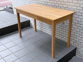 無印良品 MUJI オーク材 パーソナルデスク ワークテーブル W110 引出し付 ナチュラル シンプル ■