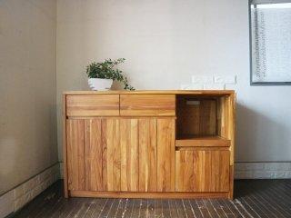 ウニコ unico ブレス BREATH キッチンカウンター チーク無垢材 レンジボード 天然木シリーズ キャビネット ◎