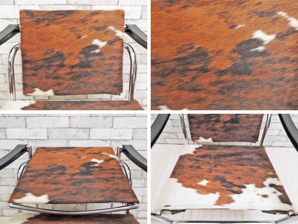 カッシーナ Cassina LC1 スリングチェア 仔牛毛皮 ハラコ ル・コルビュジェ Le Corbusier 定価\484,000- ●
