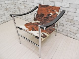 カッシーナ Cassina LC1 スリングチェア ポニースキン ハラコ ル・コルビュジェ Le Corbusier 定価\484,000- ●