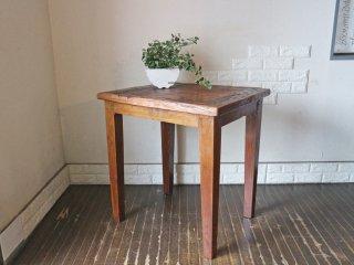 アジアン チーク無垢材 ダイニングテーブル カフェスタイル ◎