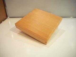 和島キリモト 桐本木工所 あすなろのJU-BAKO 大・皿型 蓋付 あすなろ材 ホオノキ ガラス塗装仕上げ 約350ml ★