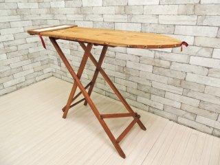 UKアンティーク UK Antique アイロン台 スタンド式 折り畳み ディスプレイテーブル コンソールテーブル タイル ●