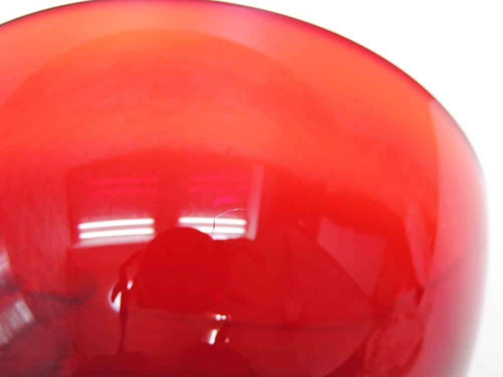 イッタラ iittala ティーマ TEEMA ガラス ボウル レッド 12.5cm ヘイッキ・オルヴォラ Heikki Orvola フィンランド 北欧 廃番 B ●